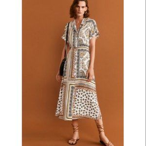 Brand new Mango Printed Brown Dress